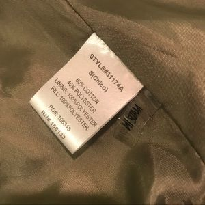 Staccato Jackets & Coats - Staccato Quilted Vest Size Small - Olive Green